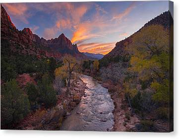 Iconic Zion Canvas Print by Joseph Rossbach