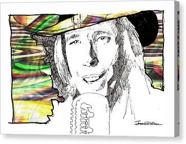 Heartbreaker Canvas Print - Icons - Tom Petty by Jerrett Dornbusch