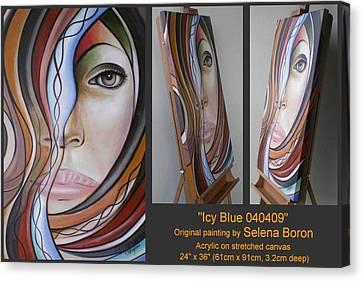 Icy Blue 040409 Comp Canvas Print by Selena Boron