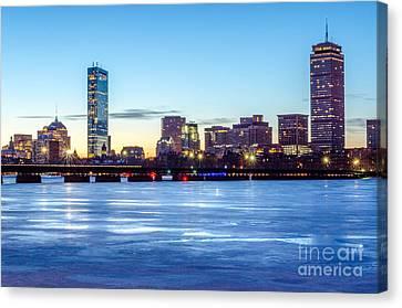 Icy Boston At Dawn Canvas Print
