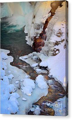 Icy Christine Falls  Canvas Print