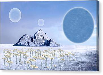 Icy Desert Canvas Print by Piero Lucia
