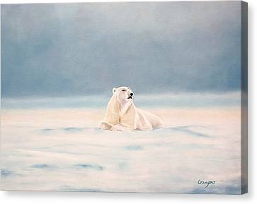 Icy Fields Canvas Print by Jean Yves Crispo