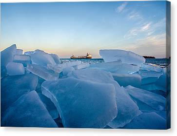 Saint Christopher Canvas Print - Icy Passage by Gales Of November
