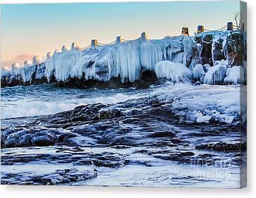 Icy Shores Canvas Print