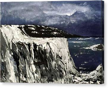 Icy Slope Canvas Print