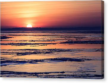 Canvas Print featuring the photograph Icy Sunrise by Jennifer Casey