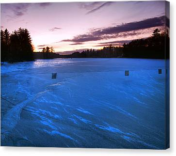 Icy Sunset Canvas Print by Joann Vitali