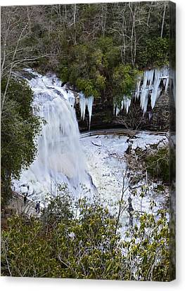 Icy Waterfall Canvas Print by Susan Leggett