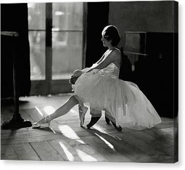Ida Rubinstein Wearing A Tutu Canvas Print by Phyllis Abbe