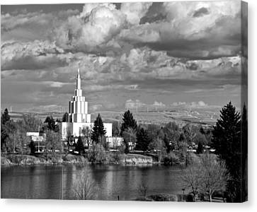 Idaho Falls Temple Canvas Print by Eric Tressler