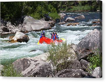 Idaho, Near Stanley, Salmon River Canvas Print by Jamie and Judy Wild