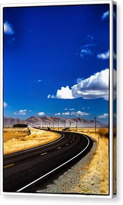 Idaho Road Titl Shift Canvas Print by For Ninety One Days