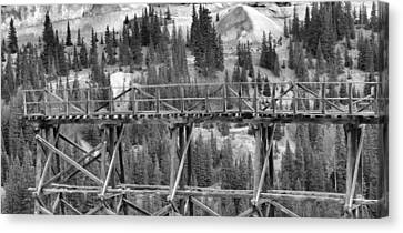 Idarado Mine Trestle Canvas Print by Dan Sproul