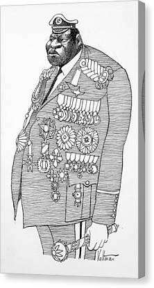 Idi Amin Dada (1925-2003) Canvas Print by Granger