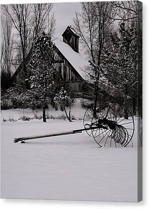 Idle Time - Waiting For Spring Canvas Print by Steven Milner