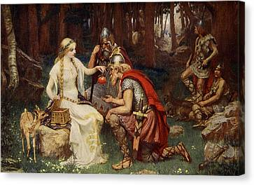 Idun And The Apples, Illustration Canvas Print by James Doyle Penrose
