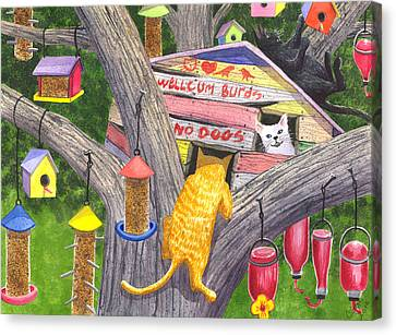 If Cats Could Pound Nails Canvas Print by Catherine G McElroy