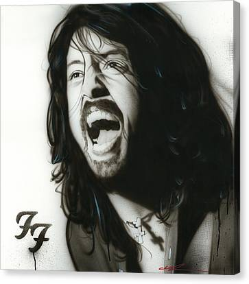Dave Grohl - ' If Everything Could Ever Feel This Real Forever ' Canvas Print by Christian Chapman Art