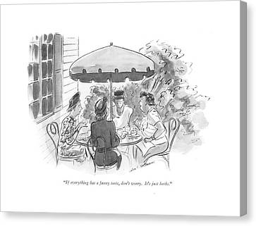 If Everything Has A Funny Taste Canvas Print by Helen E. Hokinson