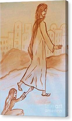 If I Could Touch His Hem Canvas Print by Judy Via-Wolff