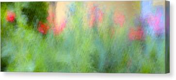 If My Front Yard Was Giverny Canvas Print by Theresa Tahara