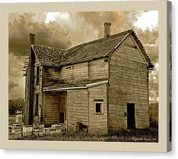 Haunted House Canvas Print - If The House Is Rockin' . . . by Everett Bowers