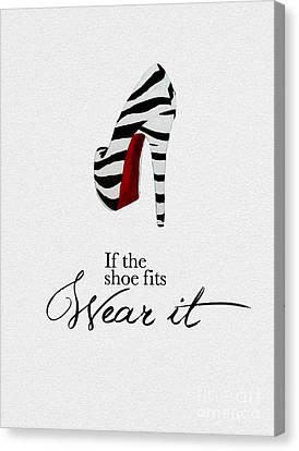 If The Shoe Fits Zebra Canvas Print by Rebecca Jenkins