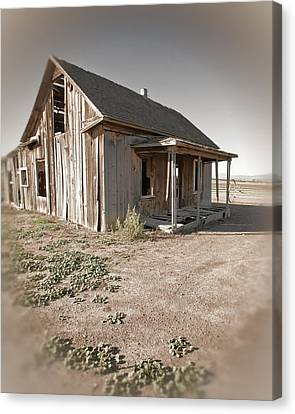 If This Homestead Could Speak Canvas Print by Bonnie Bruno