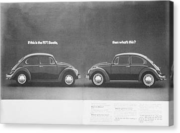 If This Is The 1971 Beetle.............. Canvas Print by Georgia Fowler