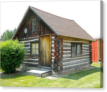 Log Cabins Canvas Print - If Walls Could Talk by Randy Rosenberger