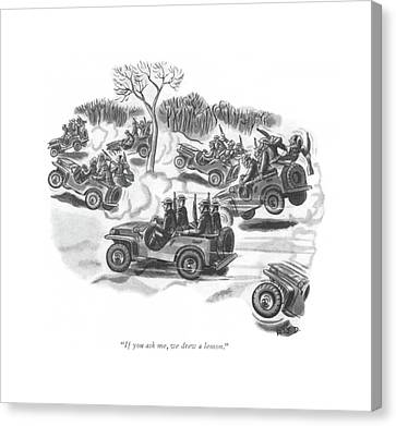 German Cars Canvas Print - If You Ask by Robert J. Day