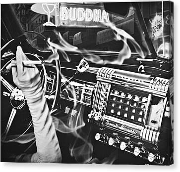 If You Meet The Buddha On The Road Canvas Print by Larry Butterworth