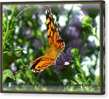 Canvas Print featuring the photograph If You Want To Fly by Heidi Manly