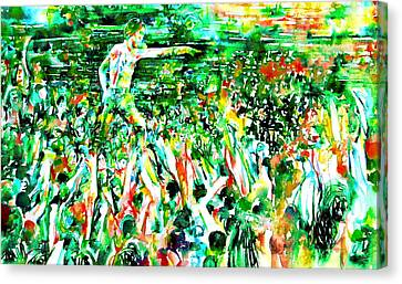 Concert Images Canvas Print - Iggy Pop Stadium Live Concert - Watercolor Painting by Fabrizio Cassetta
