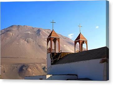 Iglesia De San Geronimo Poconchile Chile Canvas Print by Kurt Van Wagner