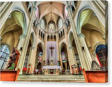Victorian Canvas Print - Iglesia De San Isidro De Coronado In Costa Rica by Andres Leon