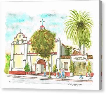 Iglesia Nuestra Senora De Los Angeles - Los-angeles - California Canvas Print by Carlos G Groppa