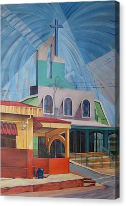 Iglesia San Rafael  Costa Rica Canvas Print