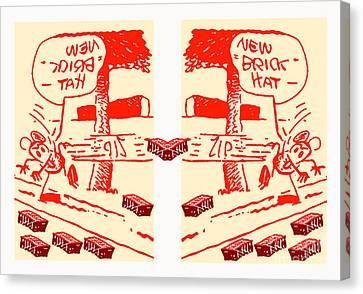 Ignatz Parallel Universe Screenprint Canvas Print by Charlie Spear