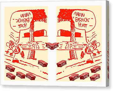 Ignatz Parallel Universe Screenprint Canvas Print by Charlie Spear