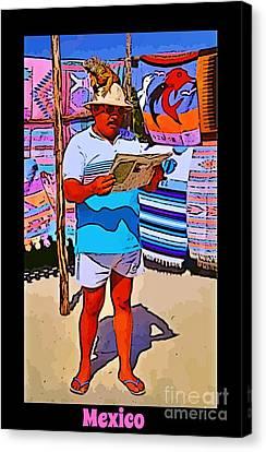 Iguana Man The Poster Canvas Print by John Malone