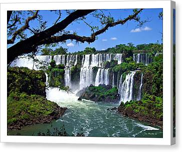 Iguazu Falls In Argentina Canvas Print