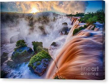 Iguazu Sunrise Canvas Print by Inge Johnsson