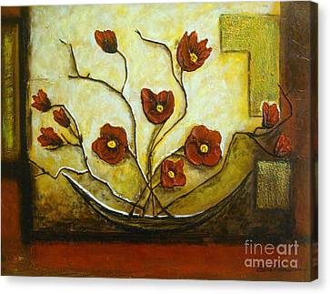 Ikebana Iv Canvas Print