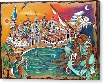 Il Bacio Di S. Marco - Venice Landscape Canvas Print by Arte Venezia