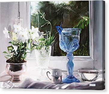 Il Calice Blu Canvas Print by Danka Weitzen