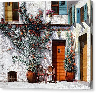 Il Cortile Bianco Canvas Print by Guido Borelli