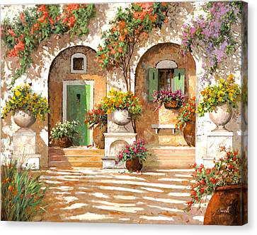 Il Cortile Canvas Print by Guido Borelli