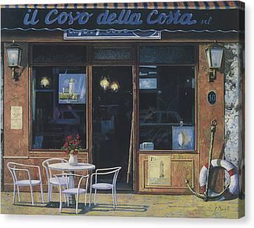 Il Covo Della Costa Canvas Print by Guido Borelli